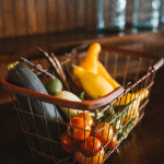 shopping basket of low carb foods