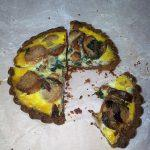 quiche with nut crust